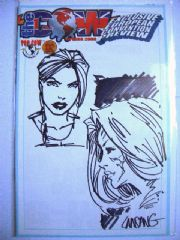 The Cow Spring 2000 Jay Company Originals Dual Sketch Edition B Tomb Raider Witchblade COA